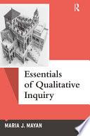 Essentials of Qualitative Inquiry Book