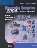 Cover of Discovering Computers 2004