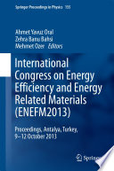 International Congress on Energy Efficiency and Energy Related Materials  ENEFM2013