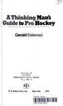 A Thinking Man s Guide to Pro Hockey