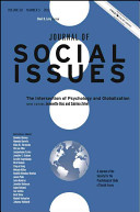 Journal of Social Issues  The Intersection of Psychology and Globalization Book