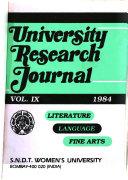 Research Journal Of The Shreemati Nathibai Damodar Thackersey Women S University Bombay