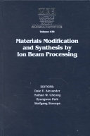 Materials Modification and Synthesis by Ion Beam  Volume 438