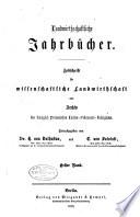 Landwirtschaftliche Jahrb  cher Book