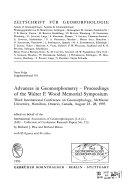Advances In Geomorphometry Book PDF
