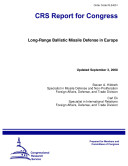 Pdf Long-Range Ballistic Missile Defense in Europe