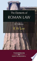 The Elements of Roman Law