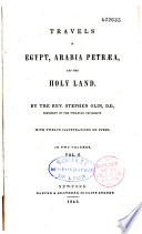Travels in Egypt, Arabia Petraea and the Holy Land