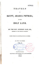 Travels in Egypt  Arabia Petraea and the Holy Land