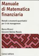Manuale di matematica finanziaria. Metodi e strumenti quantitativi per il risk management