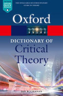 Cover of A Dictionary of Critical Theory