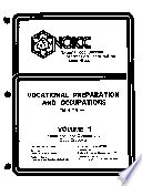 Vocational Preparation and Occupations: Educational and occupational code crosswalk