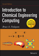 Cover of Introduction to Chemical Engineering Computing