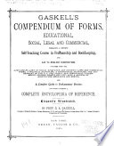 Gaskell s Compendium of Forms Book