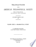 Plains Cree A Grammatical Study Transactions American Philosophical Society Vol 63 Part 5