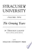 Syracuse University: The growing years