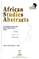 African Studies Abstracts