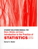 Student Solutions Manual for Moore  McCabe and Craig s Introduction to the Practice of Statistics Book