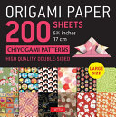 Origami Paper 200 Sheets Chiyogami Patterns