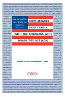 How Libraries Must Comply With The Americans With Disabilities Act Ada  Book PDF
