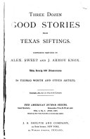 Three Dozen Good Stories from Texas Siftings