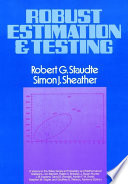 Robust Estimation And Testing Book PDF