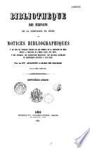 Bibliothèque des écrivains de la Compagnie de Jésus, ou Notices bibliographiques...