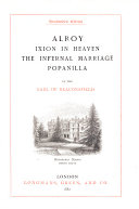 Alroy  Ixion in heaven  The infernal marriage  Popanilla