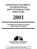 Martindale-Hubbell International Dispute Resolution Directory