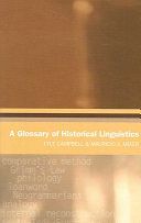 A Glossary of Historical Linguistics