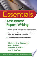 Essentials Of Assessment Report Writing Book PDF