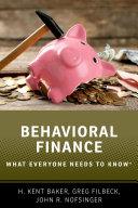 Pdf Behavioral Finance Telecharger