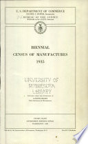 Biennial Census Of Manufactures