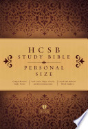 HCSB Study Bible Personal Size, Hardcover