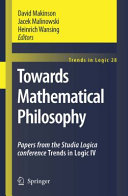 Towards Mathematical Philosophy