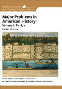 Major Problems in American History  Volume I Book