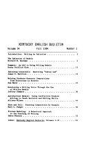 Kentucky English Bulletin