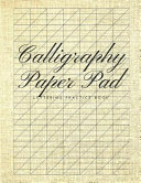 Calligraphy Paper Pad Lettering Practice Book