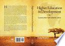 Higher Education in Development