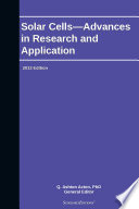 Solar Cells   Advances in Research and Application  2013 Edition