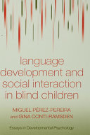 Language Development and Social Interaction in Blind Children ebook