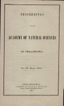 Proceedings of the Academy of Natural Sciences of Philadelphia [Pdf/ePub] eBook
