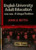 English University Adult Education  1908 1958