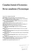 The Canadian journal of economics