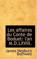 Les Affaires Du Conte de Boduel