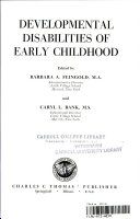 Developmental Disabilities of Early Childhood