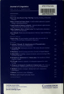 Journal of Linguistics