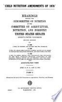 Child nutrition amendments of 1978