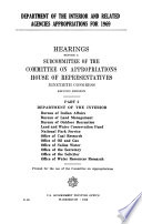 Department of the Interior and Related Agencies Appropriations for 1969 Book PDF