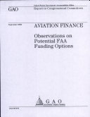 Aviation Finance: Observations on Potential FAA Funding Options